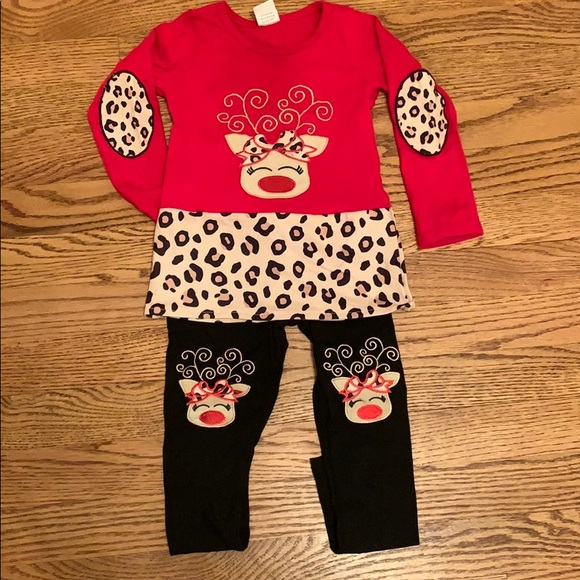 Mia Belle Girls 2T Christmas Outfit